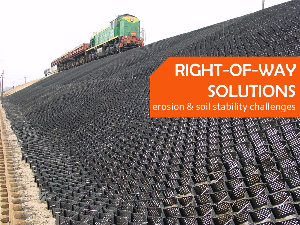 GEOWEB Soil Stabilization for Railroads