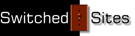 Logo with a light switch