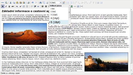 TinyMCE - nový editor v redakčnom systéme