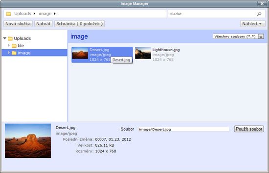 TinyMCE - Image manager
