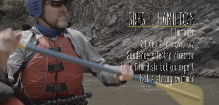 Greg at work filming Power of the River