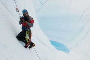 The crew films Chasing Ice at the ends of the earth
