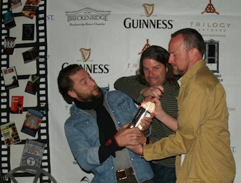 Friendly filmmakers fighting over the awards at Breckenridge
