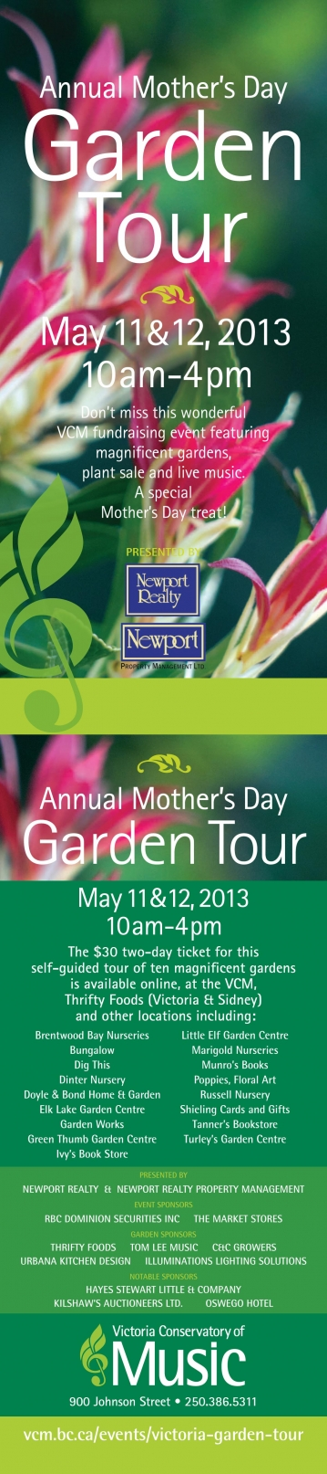 Mother's Day Garden Tour - May 11 & 12, Victoria, BC