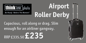 £100 off Think Tank Airport Roller Derby