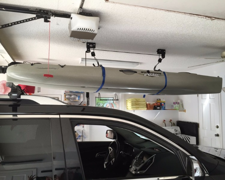Garage  Ceiling Kayak Hoist