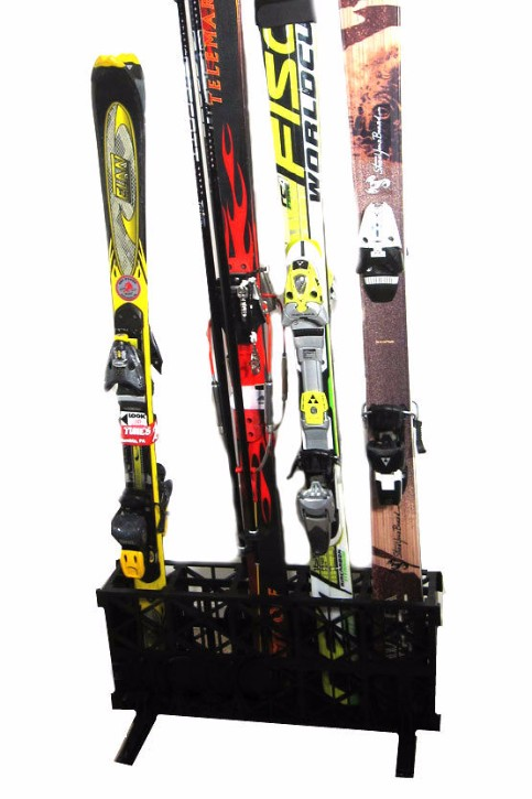 Ski Home Storage Freestanding Rack