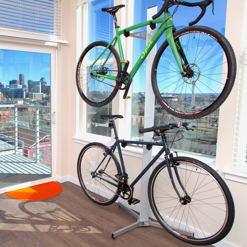 2 Bike Floor Stand