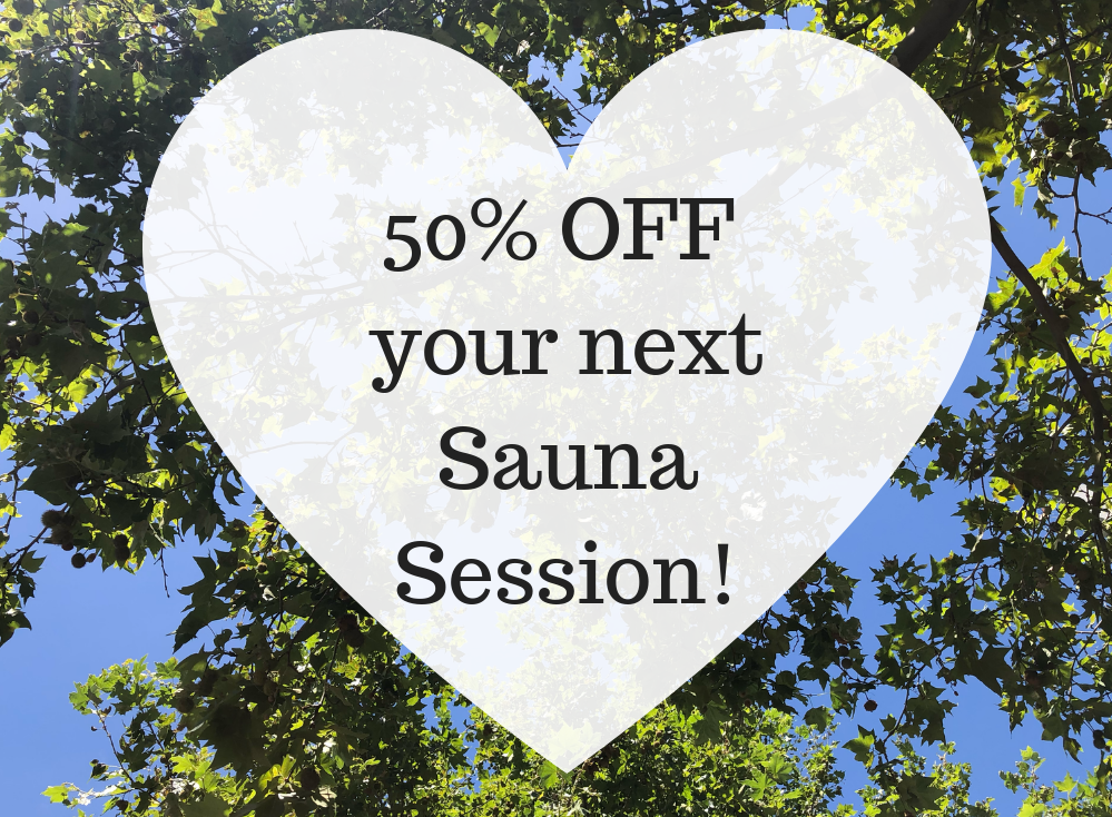 50% off your next Sauna Session!