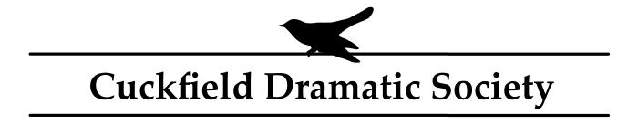 Cuckfield Dramatoc Society Logo