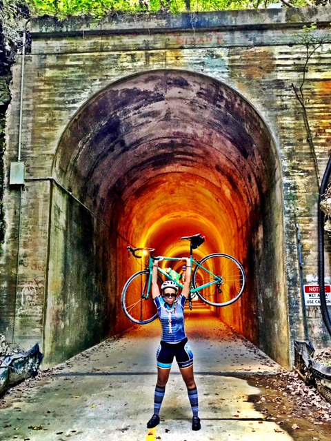 special brooks at the silver comet tunnel with sorella cycling