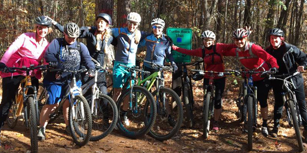 sorella cycling mountain bike clinic with stefanie gore and ali lecraw