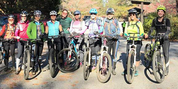 sorella cycling mountain bike ride at fort yard state park