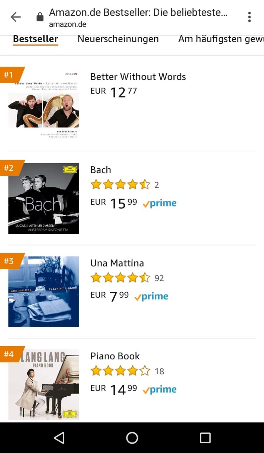 Amazon Kammermusikcharts