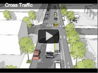 Cross-traffic video clip