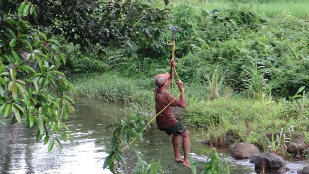 initial test of the zip line
