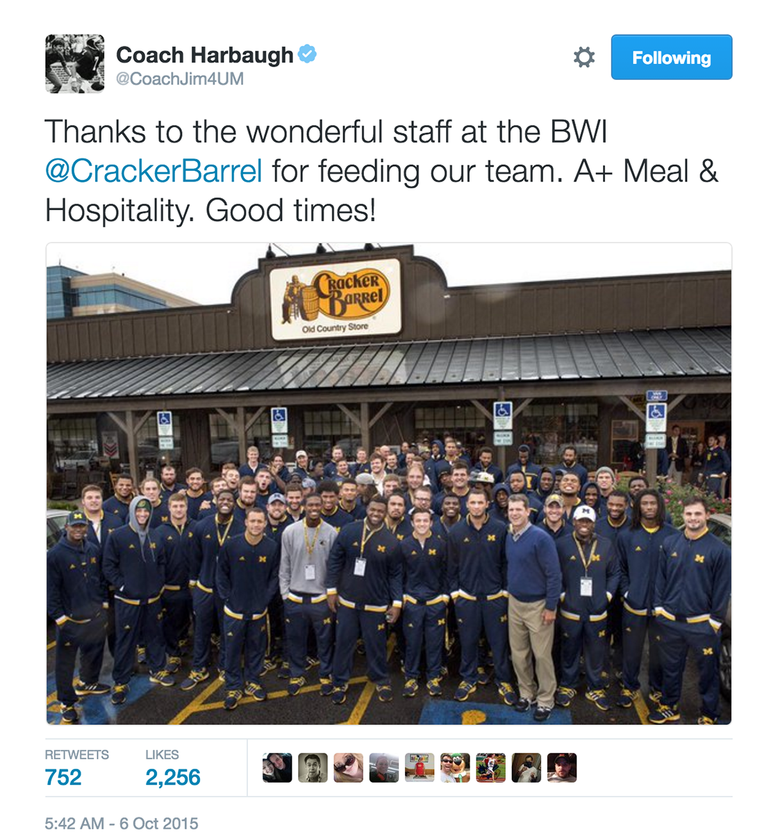 Jim Harbaugh tweet 2