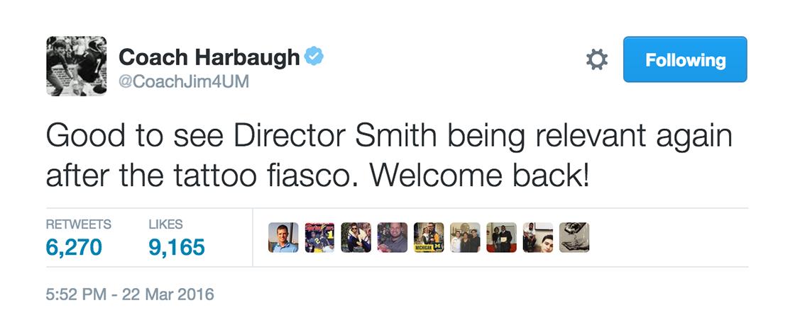 Jim Harbaugh tweet