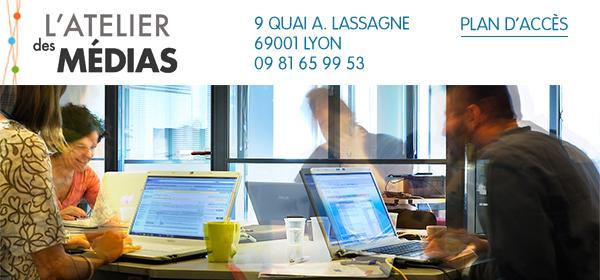 Atelier des Médias 9 Quai André Lassagne, 69001 Lyon