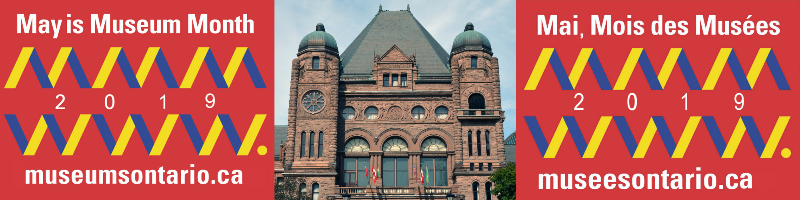 May is Museum Month Logo with Queen's Park