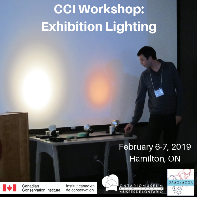 CCI Workshop, image of lights on a white wall