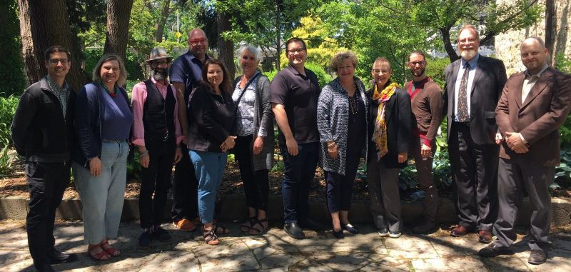 The OMA Council and guests at a recent Council meeting at Whitehorn Historic House and Garden National Historic Site
