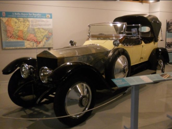 Yellow and chrome 1914 Rolls Royce