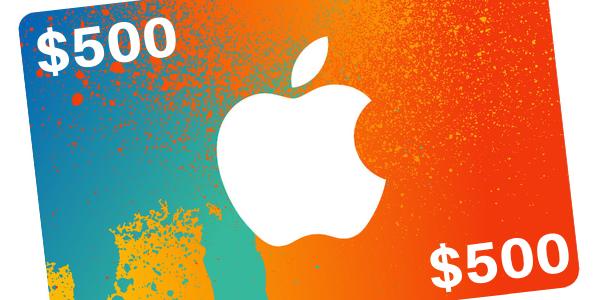 $500 Apple Gift Card