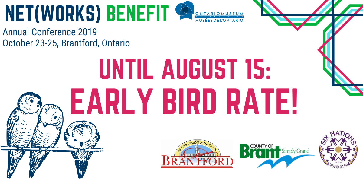 Early Bird Rate banner: Illustration of birds on a wire surrounded by conference logo