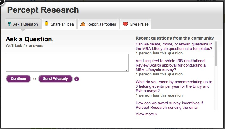 Percept Research Ask A Question
