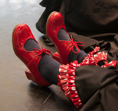 red flamenco shoes