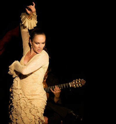 Flamenco dancer in gold