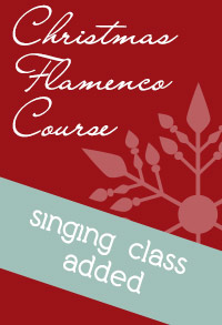 Singing class added to Christmas Flamenco Course