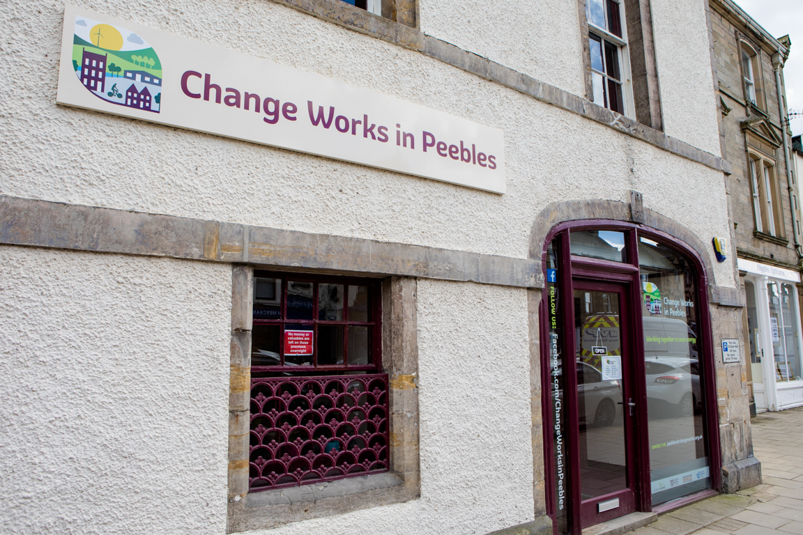 Change Works in Peebles hub, Peebles High Street
