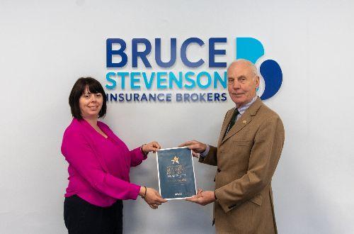 Bruce Stevenson Insurance Brokers receive their award