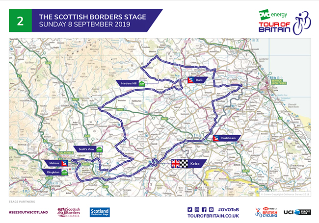 Tour of Britain Stage 2 Route