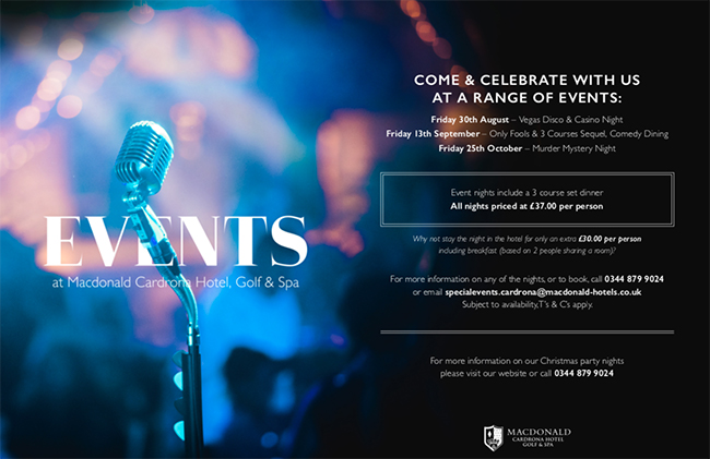 Events at the Cordrona Hotel