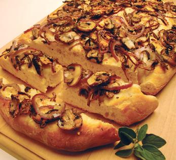 Mushroom Foccacia Pizza