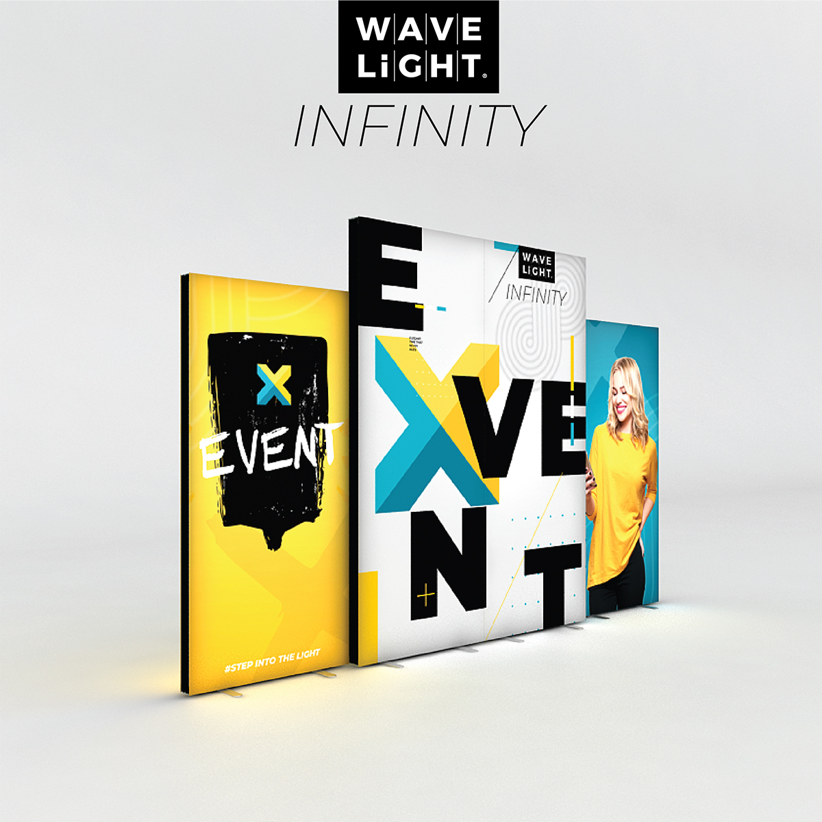 "WaveLight Infinity SEG Light Box Stand - Double-sided - 37.4""W x 78.7""H - Kit"