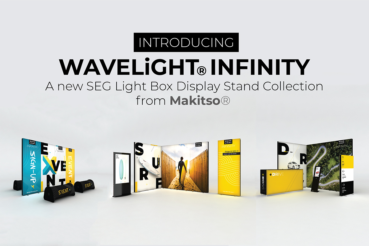 "WaveLight Infinity SEG Light Box Stand - Double-sided - 37.4""W x 94.5""H - Kit"