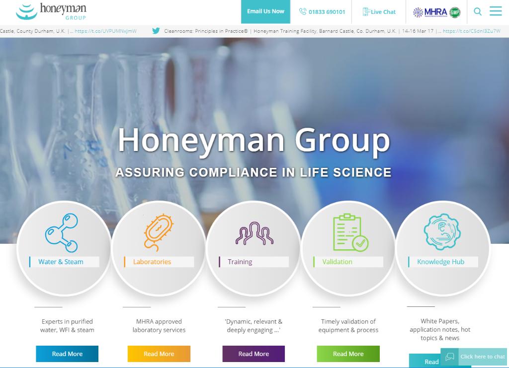 www.honeymangroup.com website