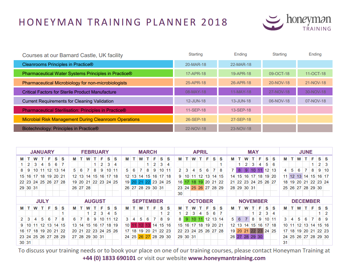 Link to Honeyman 2018 Training Planner