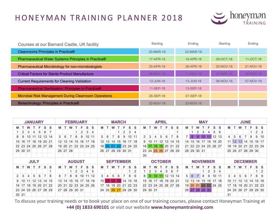 Link to Honeyman 2018 Training Planner