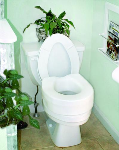 Picture of toilet seat extender - no arms.