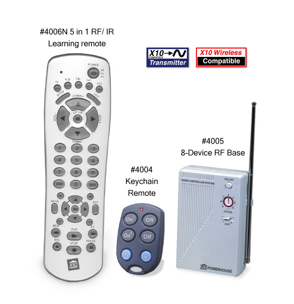 Picture of starter kit that includes universal TV remote.