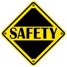 Picture of diamond shaped safety sign.