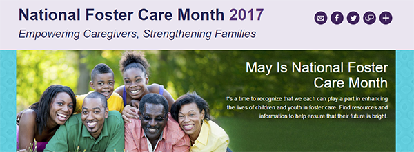 2017 National Foster Care Month home page