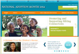 2014 National Adoption Month home page
