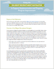 Cover for Using the Diligent Recruitment Navigator to Support Implementation and Ongoing Program Improvement