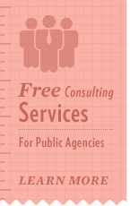 Free consulting services for public agencies.